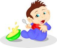 Cute baby cartoon Stock Image