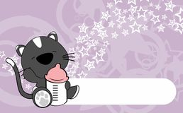 Cute baby cat cartoon background copyspace Royalty Free Stock Photo