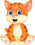Cute baby cat cartoon Stock Photo
