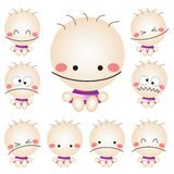 Cute Baby Character Royalty Free Stock Photos