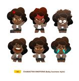 Cute baby characters emotions set. Stock Image