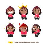 Cute baby characters emotions set. Cartoon flat style Stock Photography
