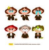 Cute baby characters emotions set. Stock Images