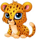 Cute baby cheetah cartoon Royalty Free Stock Image