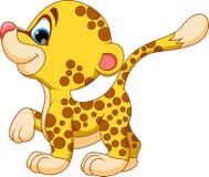 Cute baby cheetah cartoon Royalty Free Stock Photo