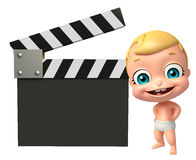 Cute baby with Clapper board Royalty Free Stock Photo