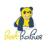Cute baby with clothes panda  illustration Royalty Free Stock Photography