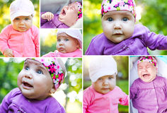 Cute baby collage Stock Photos