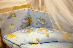 Cute baby cots with pictures. Of bears Royalty Free Stock Photos