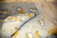 Cute baby cots with pictures Stock Photo