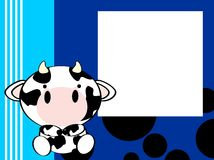 Cute baby cow background Stock Photos
