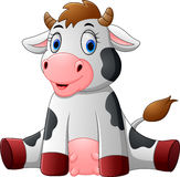 Cute baby cow cartoon Stock Photos