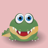 Cute baby crocodile Stock Photography