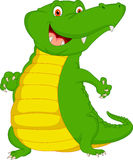 Cute baby crocodile cartoon. Illustration of cute baby crocodile cartoon Royalty Free Stock Photos