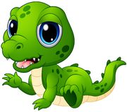 Cute baby crocodile cartoon. Illustration of Cute baby crocodile cartoon Royalty Free Stock Image