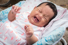 Cute baby crying Royalty Free Stock Photos