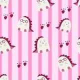 Cute baby dino seamless pattern. royalty free illustration