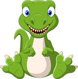 Cute baby dinosaur cartoon Royalty Free Stock Images