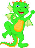 Cute baby dinosaur cartoon Stock Photo