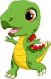 Cute baby dinosaur cartoon Stock Photos