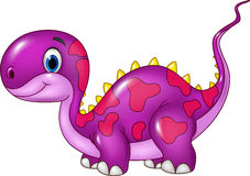 Cute baby dinosaur posing. Isolated on white background Royalty Free Stock Photography
