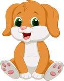 Cute baby dog cartoon Stock Image