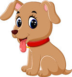 Cute baby dog cartoon. Illustration of Cute baby dog cartoon royalty free illustration