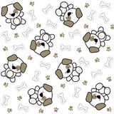 Cute baby dogs pattern Stock Photography