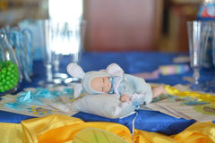 Cute baby doll sleeping Stock Photo