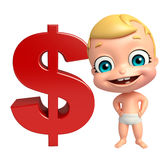 Cute baby with Dollar sign Royalty Free Stock Images