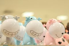 Cute baby dolls for home decor of Thailand stock images