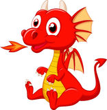Cute baby dragon cartoon Stock Image
