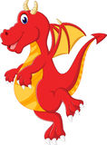 Cute baby dragon cartoon Stock Images
