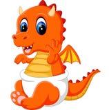 Cute baby dragon cartoon Stock Photos