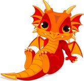 Cute baby dragon royalty free illustration