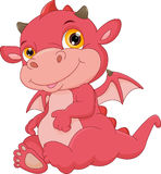 Cute baby dragon cartoon Royalty Free Stock Image