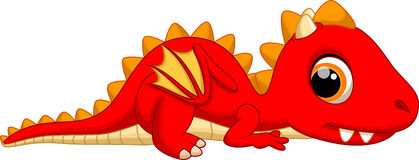 Cute baby dragon cartoon Royalty Free Stock Images