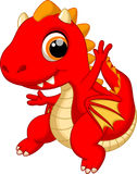 Cute baby dragon cartoon Stock Image