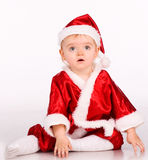Cute baby dressed as Santa Claus Royalty Free Stock Photo