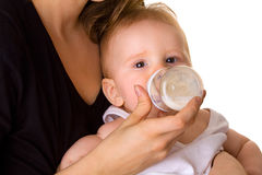Cute baby drink milk Royalty Free Stock Image