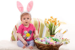 Cute baby Easter Stock Photo