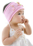 Cute baby eating Stock Photography