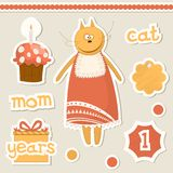Cute baby elements. Stock Images
