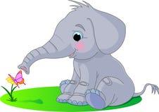Cute baby elephant royalty free illustration