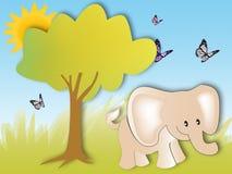 Cute Baby Elephant Royalty Free Stock Photos