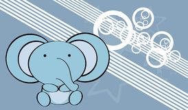Cute baby elephant background Stock Photography