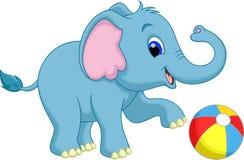 Cute baby elephant cartoon. Funny baby elephant with a white background Royalty Free Stock Photo