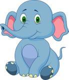 Cute baby elephant cartoon. Illustration of Cute baby elephant cartoon Royalty Free Stock Image