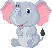 Cute baby elephant cartoon. Illustration of Cute baby elephant cartoon Royalty Free Stock Image