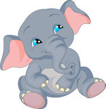 Cute baby elephant cartoon Stock Photo
